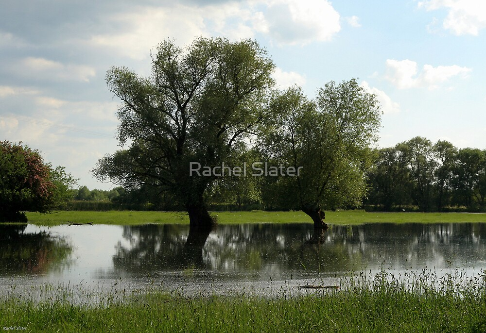 "Cambridgeshire - Holywell in flood"" by Rachel Slater 