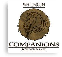 Skyrim - Whiterun Companions Canvas Print