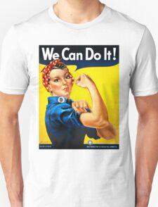 Rosie the Riveter - US World War II Propaganda Poster Unisex T-Shirt