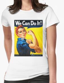 Rosie the Riveter - US World War II Propaganda Poster Womens Fitted T-Shirt