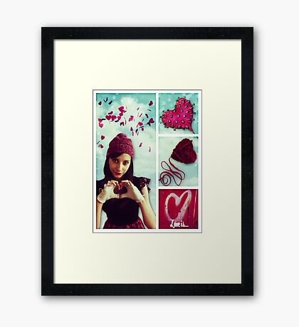 Love Is ♥ Framed Print