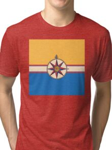 Antique Compass Rose Tri-blend T-Shirt