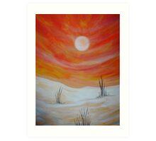 Arid Sun Art Print