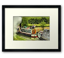 Steam Narrowboat President and Butty Kildare - Braunston Framed Print