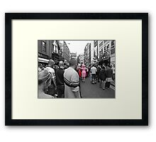 Watching The Girls Go By Framed Print