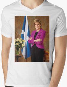 FM Nicola Sturgeon Mens V-Neck T-Shirt