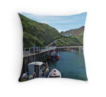 Burnmouth Harbour 3 Throw Pillow