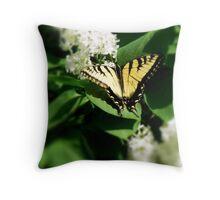 Tiger Swallowtail on Lilacs Throw Pillow