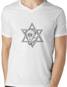 The monkey of wisdom Mens V-Neck T-Shirt