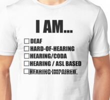 Deaf terminology - American Sign Language Unisex T-Shirt