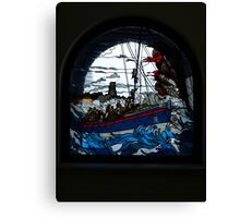Stained Lifeboat Canvas Print