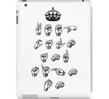 Keep calm and sign on - American sign language iPad Case/Skin