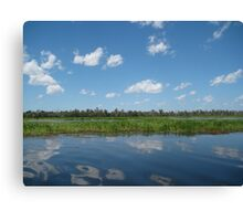 Yellow River Mirror Canvas Print