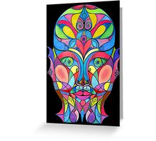 Stained Glass Mirror Greeting Card