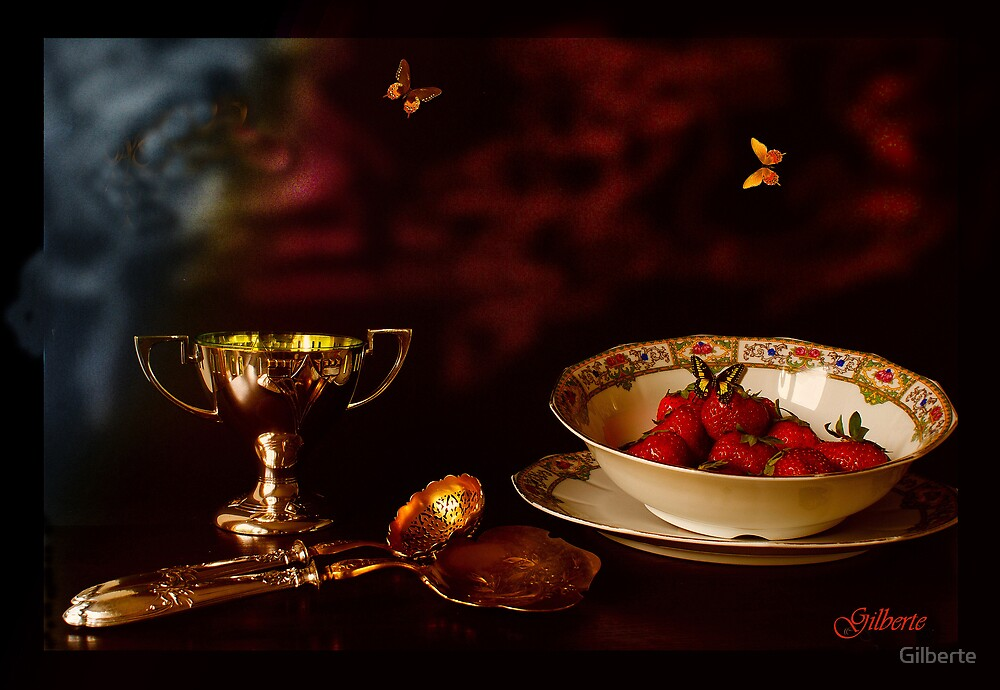1900 - Strawberry Time by Gilberte