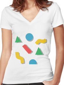shapes Women's Fitted V-Neck T-Shirt