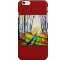 Autumn Walk, Derbyshire iPhone Case/Skin