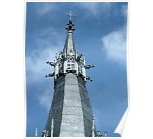steeple of the church St Georges, Lyon, France  Poster
