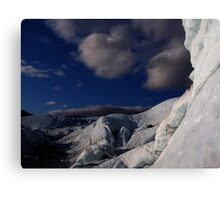 Far ice - climber in deep blue bliss Canvas Print