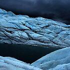 Stormy super dark glacier by LichenRockArts