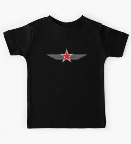 Military star with wings Kids Tee