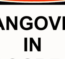 Danger - Hangover In Progress Sticker