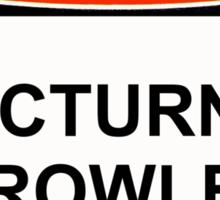 Danger - Nocturnal Prowler Sticker
