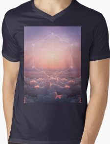 The Sun Is But A Morning Star (Geometric Sunrise) Mens V-Neck T-Shirt