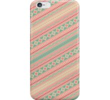 Retro Turquoise Pink Abstract Andes Aztec Pattern iPhone Case/Skin