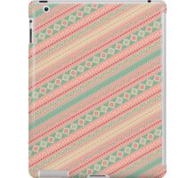 Retro Turquoise Pink Abstract Andes Aztec Pattern iPad Case/Skin