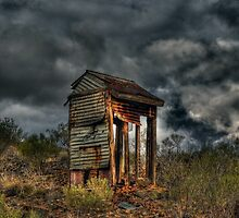 Dilapidated Dunny on the Hill by Rod Wilkinson