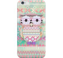 Whimsical Tribal Owl Pastel Girly Tie Dye Aztec iPhone Case/Skin