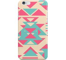Modern Pink Turquoise Abstract Geometric Triangles iPhone Case/Skin