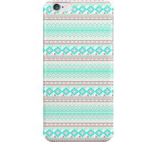 Trendy Mod Bright Teal Pink Abstract Aztec Pattern  iPhone Case/Skin
