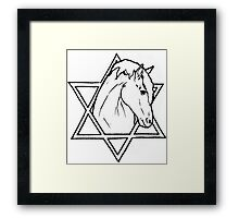 The horse of wisdom Framed Print