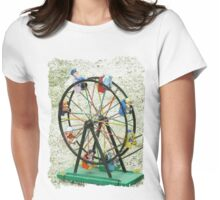Round and round we go Womens Fitted T-Shirt