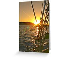 sunset heading home Greeting Card
