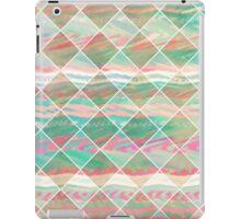 Girly Modern Pastel Geometric Diamond Shapes iPad Case/Skin
