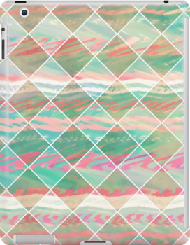 Girly Modern Pastel Geometric Diamond Shapes by GirlyTrend