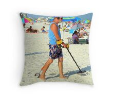 Looking For Treasures Throw Pillow