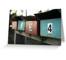 pick a number....any number  Greeting Card