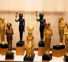 Funerary statues for the afterlife, Cairo Museum by ishtarsands