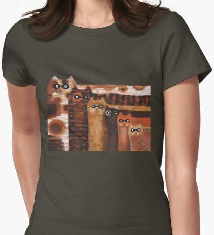 Cat Burglars Womens Fitted T-Shirt