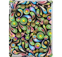Drops Psychedelic Abstract Pattern   iPad Case/Skin
