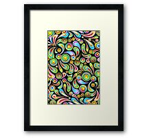 Drops Psychedelic Abstract Pattern   Framed Print