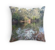 The lake, Belair National Park, South Australia. Throw Pillow
