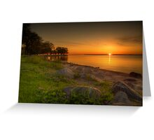 Violetter Sonnenaufgang Greeting Card
