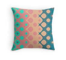 Strawberry Mint Bubbles Throw Pillow