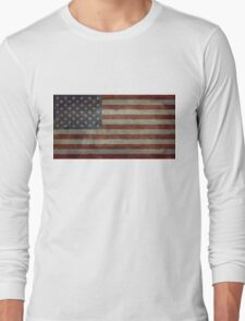 "Flag of the United States of America - Authentic ratio 10:19 ""G-spec"" for ""government specification"" Long Sleeve T-Shirt"