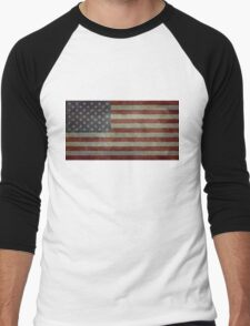 "Flag of the United States of America - Authentic ratio 10:19 ""G-spec"" for ""government specification"" Men's Baseball ¾ T-Shirt"
